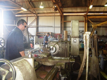 Head Machinest on Lathe
