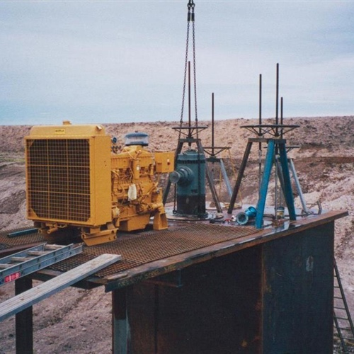 Pump Site on platform